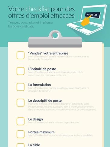 Votre checklist pour des offres d'emploi efficaces